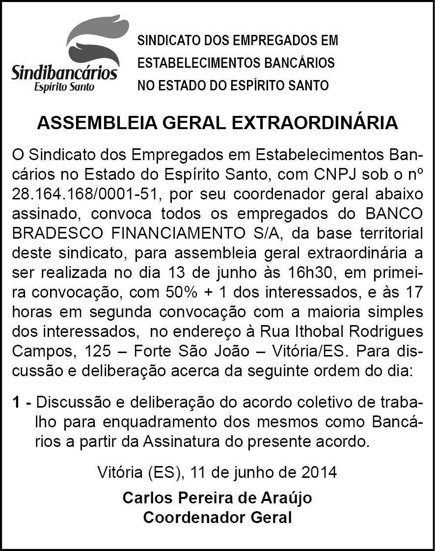 EDITAL ASSEMB. GERAL EXTRAORD BRADESCO FINANC