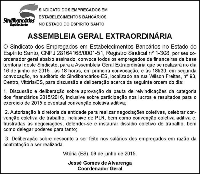 EDITAL FINANCEIRAS - 09-06-2015