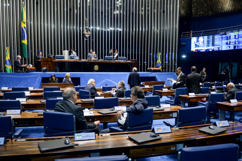 Plenária do Senado no dia 21, quando foi votado o PLS555.