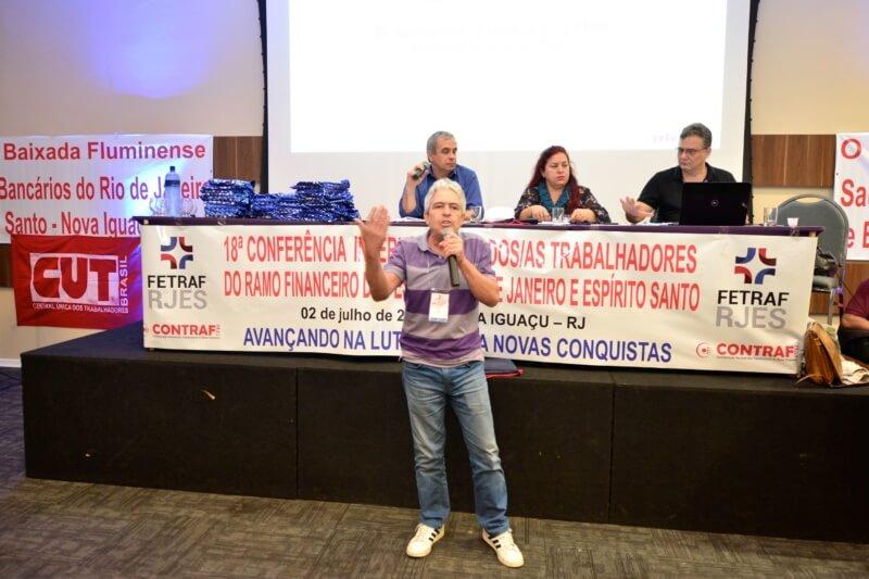 Coordenador geral do Sindibancários/ES, Jonas Freire (Foto: Nando Neves)