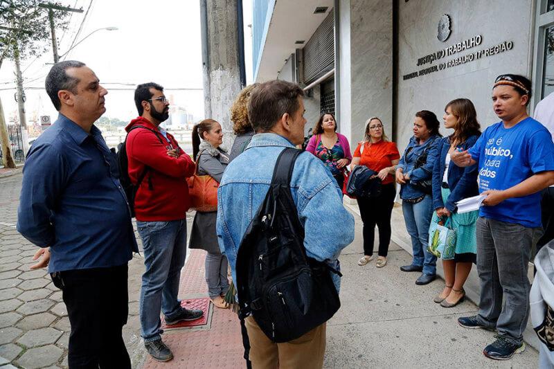 Ação sindical na agência da Avenida Beira Mar